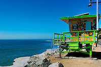 Topanga CA, Beach Lifeguard Station, Pacific Coast Highway, Summer of Color exhibit, Lifeguard Towers, Los Angeles 2010, Portraits of Hope, Geometric shapes,