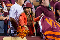 Landover, MD - SEPT 3, 2017: Virginia Tech Hokies fans are pumped after a touchdown late in the 4th quarter during game between West Virginia and Virginia Tech at FedEx Field in Landover, MD. (Photo by Phil Peters/Media Images International)