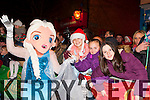 Let it Go: Rebecca Flynn, Danielle O'Shea, and Eilish Mullane Glenflesk meets Frozen's Elsa at the Christmas in Killarney parade on Friday night