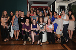 Sacred Heart class of 1992 pupils pictured at their reunion in the Westcourt Hotel. Photo: Colin Bell/pressphotos.ie
