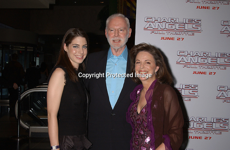 "Leonard Goldberg and Daughter Amanda and wife Wendy                               ..at ""Charlie's Angels Full Throttle"" movie screening on ..June 25,2003 at the Loews Lincoln Center in New York ..City.  Photo by Robin Platzer, Twin Images"
