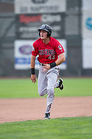 Billings Mustangs right fielder Bren Spillane (43) hustles towards third base during a Pioneer League game against the Ogden Raptors at Lindquist Field on August 17, 2018 in Ogden, Utah. The Billings Mustangs defeated the Ogden Raptors by a score of 6-3. (Zachary Lucy/Four Seam Images)