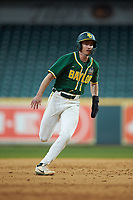 Nick Loftin (2) of the Baylor Bears hustles towards third base against the LSU Tigers in game five of the 2020 Shriners Hospitals for Children College Classic at Minute Maid Park on February 28, 2020 in Houston, Texas. The Bears defeated the Tigers 6-4. (Brian Westerholt/Four Seam Images)