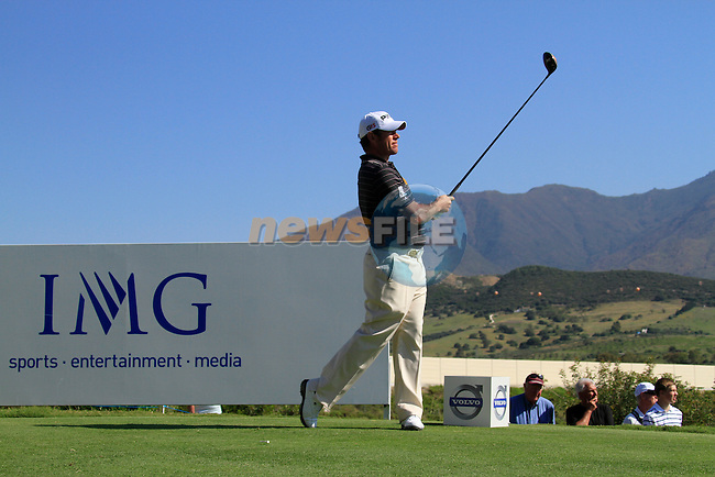 Lee Westwood (ENG) tees off on the 8th tee during the morning session on Day 3 of the Volvo World Match Play Championship in Finca Cortesin, Casares, Spain, 21st May 2011. (Photo Eoin Clarke/Golffile 2011)