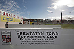 Prestatyn Town 0 Port Talbot Town 0, 19/10/2013. Bastion Gardens, Welsh Premier League. Spectators arriving at Bastion Gardens prior to the match between Prestatyn Town and visitors Port Talbot Town in the Welsh Premier League. Prestatyn Town were Welsh Cup winners in 2013. The match ended goalless and was watched by 211 spectators. Photo by Colin McPherson.