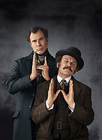 Promotional art with Will Ferrell &amp; John C. Reilly in Holmes &amp; Watson (2018) <br /> *Filmstill - Editorial Use Only*<br /> CAP/RFS<br /> Image supplied by Capital Pictures