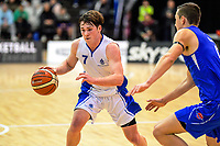 St Kentigern captain Alex McNaught during the 2019 Schick AA Boys' Secondary Schools Basketball National Championship final between St Kentigern and Rosmini College at the Central Energy Trust Arena in Palmerston North, New Zealand on Saturday, 5 October 2019. Photo: Dave Lintott / lintottphoto.co.nz
