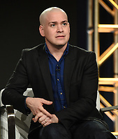 """PASADENA - JANUARY 13: Cast member T.R. Knight during the """"GENIUS: PICASSO"""" panel at the NATIONAL GEOGRAPHIC portion of the 2018 Winter TCA Press Tour at the Langham Huntington Hotel on January 13, 2018, in Pasadena, California. (Photo by Frank Micelotta/National Geographic/PictureGroup)"""