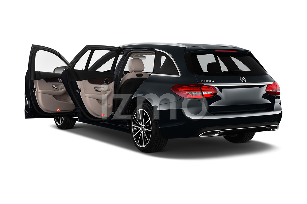 Car images close up view of a 2019 Mercedes Benz C Class Break Avantgarde 5 Door Wagon doors