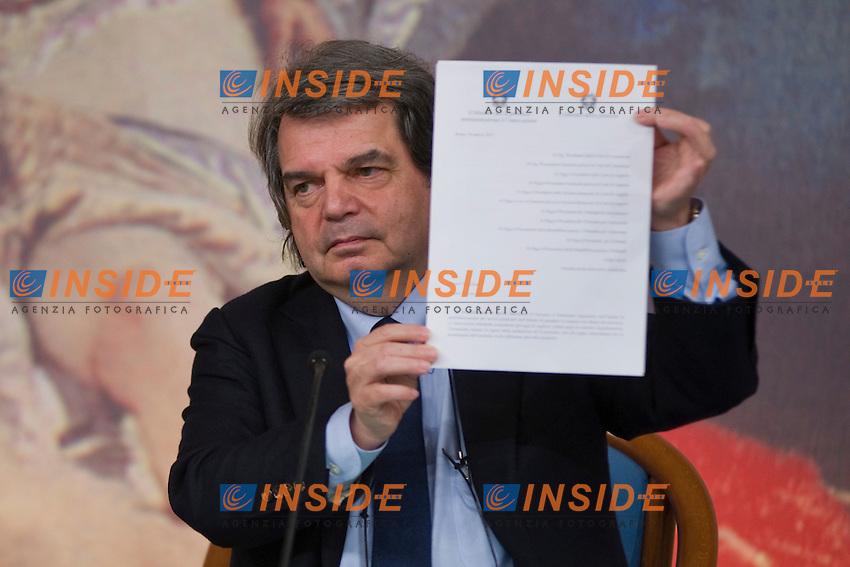 Renato Brunetta.Roma 11/3/2011 .Palazzo Chigi - Conferenza stampa di presentazione del Piano Straordinario per la digitalizzazione della giustizia Photo Serena Cremaschi Insidefoto...............