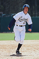 Casey Stevenson of the University of California at Irvine running the bases during a game against James Madison University at the Baseball at the Beach Tournament held at BB&T Coastal Field in Myrtle Beach, SC on February 28, 2010.