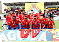 IPIALES- COLOMBIA,15-05-2019:Formación del Deportivo Pasto ante el América de Cali durante el segundo  partido de los cuadrangulares finales de la Liga Águila I 2019 jugado en el estadio Municipal de Ipiales de la ciudad de Ipiales. /Team of Deportivo Pasto agaisnt of America de Cali   during the second match for the quarter finals B of the Liga Aguila I 2019 played at the Municipal de Ipiales stadium in Ipiales city. Photo: VizzorImage / Leonardo Castro / Contribuidor