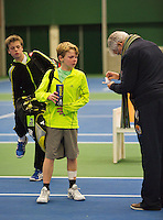 01-12-13,Netherlands, Almere,  National Tennis Center, Tennis, Winter Youth Circuit, Jesper de Jong <br /> Photo: Henk Koster