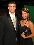 Hunter Pence and Terrie Barr at the Astros Wives Gala at Minute Maid Park Thursday July 31,2008. (Dave Rossman/For the Chronicle)