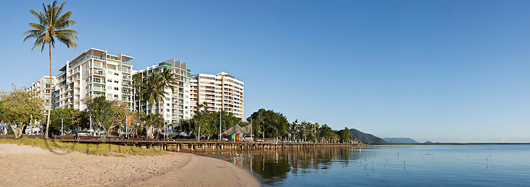 The Cairns Esplanade.  Cairns, Queensland, Australia