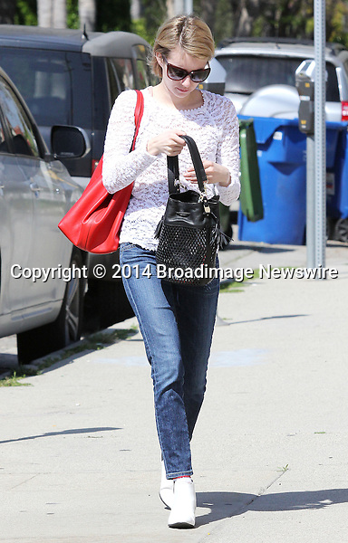 Pictured: Emma Roberts<br /> Mandatory Credit &copy; Patron/Broadimage<br /> Emma Roberts out and about in Los Angeles<br /> <br /> 3/13/14, Los Angeles, California, United States of America<br /> <br /> Broadimage Newswire<br /> Los Angeles 1+  (310) 301-1027<br /> New York      1+  (646) 827-9134<br /> sales@broadimage.com<br /> http://www.broadimage.com