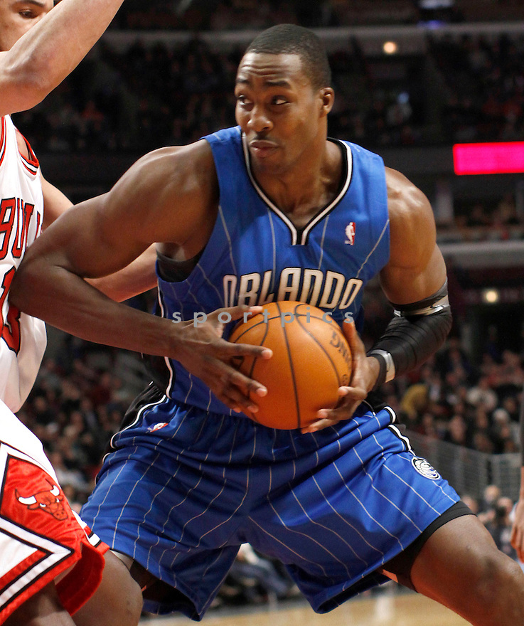 DWIGHT HOWARD, in action during the Orlando Magic v. Chicago Bulls game on January 2, 2010 in Chicago, Illinois. Bulls won 101-93.