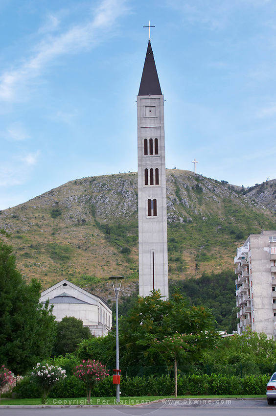 Franciscan Monastery and church. Historic town of Mostar. Federation Bosne i Hercegovine. Bosnia Herzegovina, Europe.