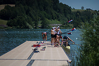 Lucerne, SWITZERLAND, 12th July 2018, Thursday View, FISA World Cup III, Lake Rotsee, © Peter SPURRIER,
