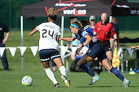 Kansas City, MO - Saturday July 16, 2016: Estelle Johnson, Shea Groom during a regular season National Women's Soccer League (NWSL) match between FC Kansas City and the Washington Spirit at Swope Soccer Village.