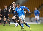 St Johnstone v Motherwell....25.02.14    SPFL<br /> Nigel Hasselbaink and Craig Reid<br /> Picture by Graeme Hart.<br /> Copyright Perthshire Picture Agency<br /> Tel: 01738 623350  Mobile: 07990 594431
