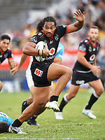 Bunty Afoa.<br /> NRL Premiership. Vodafone Warriors v Gold Coast Titans. Mt Smart Stadium, Auckland, New Zealand. March 17 2018. &copy; Copyright photo: Andrew Cornaga / www.Photosport.nz