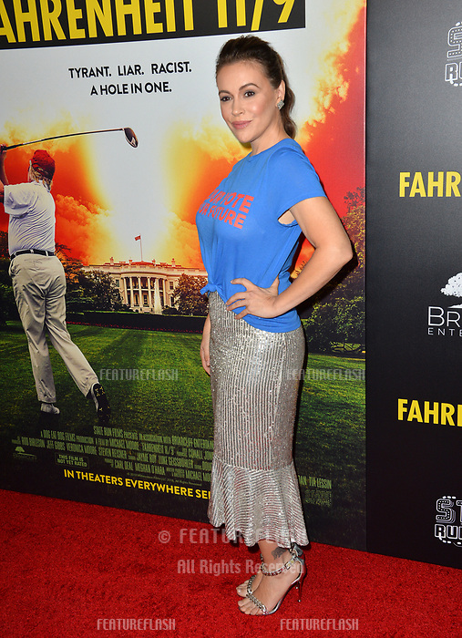 """LOS ANGELES, CA. September 19, 2018: Alyssa Milano at the Los Angeles premiere for Michael Moore's """"Fahrenheit 11/9"""" at the Samuel Goldwyn Theatre.<br /> Picture: Paul Smith/Featureflash"""