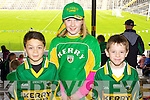 Barry Lenihan, Gillian Spillane Brendan O'Leary (Ballydesmond) Kerry supporters at the Kerry Senior Football Team Media day at Fitzgerald Stadium on Saturday.