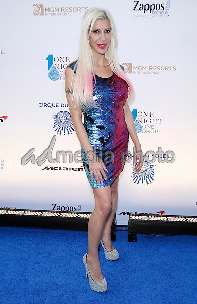 18 March 2016 - Las Vegas, Nevada - Angelique Frenchy Morgan. Cirque Du Soleil presents star-studded blue carpet at Fourth Annual One Night for ONE DROP at the Cleveland Clinic Lou Ruvo Center for Brain Health. Photo Credit: MJT/AdMedia