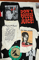 LOS ANGELES - AUG 17: Bootleg T-Shirts at the OJ Simpson pop-up museum at the Coagula Curatorial Gallery on August 12, 2017 in Los Angeles, California