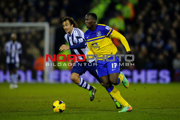 West Brom Midfielder Graham Dorrans and West Brom Defender Diego Lugano in action -  - 20/01/2014 - SPORT - FOOTBALL - The Hawthorns Stadium - West Bromwich Albion v Everton - Barclays Premier League.<br /> Foto nph / Meredith<br /> <br /> ***** OUT OF UK *****