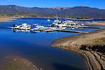 Boats parked at a marina on Lake Granby Near Rocky Mountain National Park, Colorado; USA