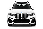 Car photography straight front view of a 2019 BMW X7 40i 5 Door SUV