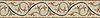 "7 1/4"" Beatrice border, a hand-cut stone mosaic, shown in polished Travertine White, Rosa Verona , Verde Alpi, Verde Luna, Spring Green, Crema Marfi."