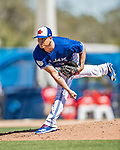 6 March 2019: Toronto Blue Jays pitcher Javy Guerra on the mound during a Spring Training game against the Philadelphia Phillies at Dunedin Stadium in Dunedin, Florida. The Blue Jays defeated the Phillies 9-7 in Grapefruit League play. Mandatory Credit: Ed Wolfstein Photo *** RAW (NEF) Image File Available ***