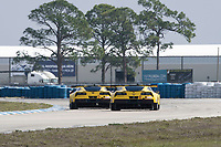 2017 WeatherTech SportsCar Championship - IMSA February Test<br /> Sebring International Raceway, Sebring, FL USA<br /> Thursday 23 February 2017<br /> 3, Chevrolet, Corvette C7.R, GTLM, Antonio Garcia, Jan Magnussen, Mike Rockenfeller, 4, Chevrolet, Corvette C7.R, GTLM, Oliver Gavin, Tommy Milner, Marcel Fassler<br /> World Copyright: Richard Dole/LAT Images<br /> <br /> ref: Digital Image RD_2_17_03