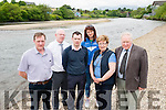 Local farmers, residents and landowners want River Laune dredged. Pictured L-R Michael G Fleming, John Brassil, John Francis Flynn, Monika Dukarska, Mona Joy and Michael Fleming (Chairman of Kerry Costal Rowing Federation.
