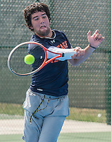 STAFF PHOTO ANTHONY REYES &bull; @NWATONYR<br /> The 7A-West Conference girls and boys tennis tournament Wednesday, Oct. 8, 2014 at the Springdale Har-Ber tennis courts.