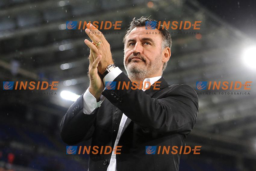 Christophe Galtier St Etienne <br /> Roma 01-10-2015 Stadio Olimpico Football Calcio Europa League Lazio - Saint Etienne Foto Andrea Staccioli / Insidefoto