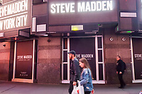 The imminent home of a Steve Madden store in Times Square in New York on Tuesday, June 6, 2017. (© Richard B. Levine)