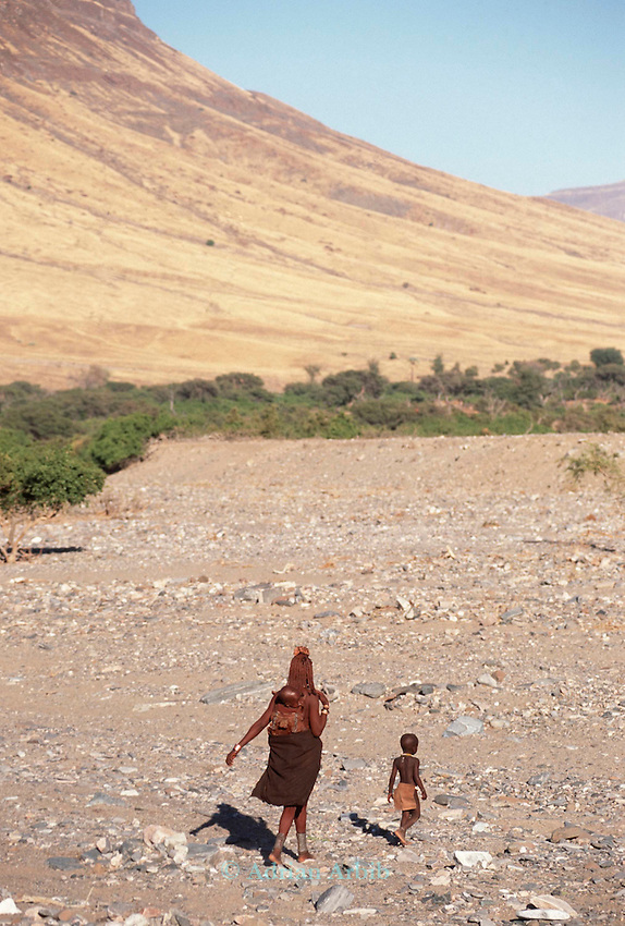 Himba  mother and child, Northern Namibia.