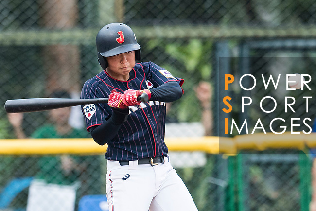 #13 Ririna Kanemitsu bats during the BFA Women's Baseball Asian Cup match between South Korea and Japan at Sai Tso Wan Recreation Ground on September 2, 2017 in Hong Kong. Photo by Marcio Rodrigo Machado / Power Sport Images