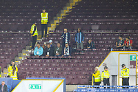 Some Istanbul Basaksehir fans watch on during the second half<br /> <br /> Photographer Alex Dodd/CameraSport<br /> <br /> UEFA Europa League - Third Qualifying Round 2nd Leg - Burnley v Istanbul Basaksehir - Thursday 16th August 2018 - Turf Moor - Burnley<br />  <br /> World Copyright © 2018 CameraSport. All rights reserved. 43 Linden Ave. Countesthorpe. Leicester. England. LE8 5PG - Tel: +44 (0) 116 277 4147 - admin@camerasport.com - www.camerasport.com