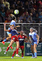 Boyds, MD - Friday Sept. 30, 2016: Sofia Huerta, Joanna Lohman during a National Women's Soccer League (NWSL) semi-finals match between the Washington Spirit and the Chicago Red Stars at Maureen Hendricks Field, Maryland SoccerPlex. The Washington Spirit won 2-1 in overtime.