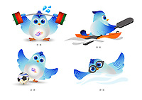2020 Mascots for the 4th Asian Para Games in China 2022 Apr 16th