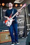 Dan Maines of Clutch performs during the 2013 Rock On The Range festival at Columbus Crew Stadium in Columbus, Ohio.