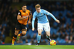 Kevin De Bruyne of Manchester City and Hull's Jake Livermore - Manchester City vs Hull City - Capital One Cup - Etihad Stadium - Manchester - 29/12/2015 Pic Philip Oldham/SportImage