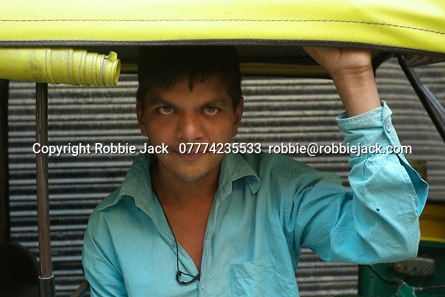 An autorickshaw driver in the Paharganj district of New Delhi, India.