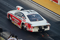 Jun. 29, 2012; Joliet, IL, USA: NHRA pro stock driver Mike Edwards during qualifying for the Route 66 Nationals at Route 66 Raceway. Mandatory Credit: Mark J. Rebilas-