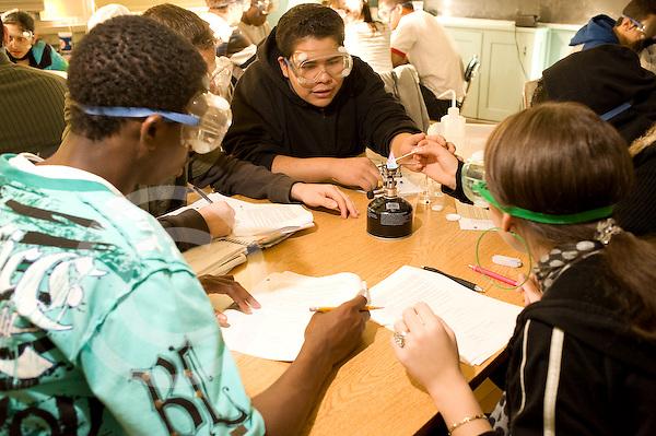 Education High School Grade 10 chemistry class lab